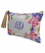 Personalized Floral Pattern Makeup Bags