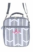 Personalized Lunch Tote | Gray Arrow