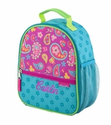 Personalized Paisley Lunch Totes