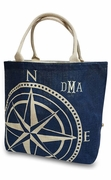 Personalized Sailboat Compass Tote Bag | Embroidered