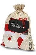 Personalized Santa Gift Bag | Embroidered