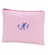 Personalized Seersucker Accessory Pouch