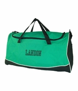 Personalized Sport Bags - Kelly Green and Gold