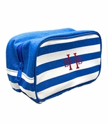 Personalized Stripe Cosmetic Bags - 4 Colors