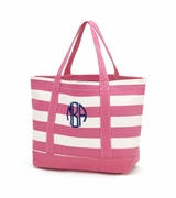 Personalized Striped Beach Tote - Monogrammed