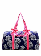 Pineapple Quilted Duffle Bag - Personalized