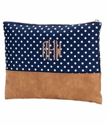Polka Dot Accessory Pouch | Monogram