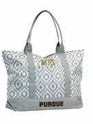 Purdue University Monogram Tote Bag