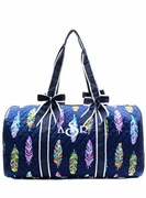 Quilted Feather Duffle Bag | Monogrammed