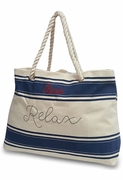 Relax Beach Tote Bag | Embroidered
