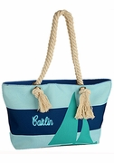 Sailboat Beach Tote Bag | Personalized