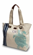 Sea Turtle Beach Bag | Embroidered