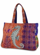 Seahorse Beach Tote | Monogram | Personalized