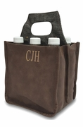 Six Bottle Beverage Carrier Bags | Monogram