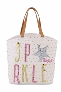 Sparkle Sequin Girly Tote Bag | Monogram