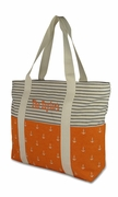 Striped Anchor Canvas Boat Totes | Monogram