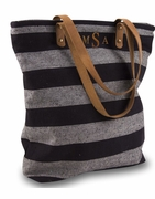 Striped Carry All Tote Bag | Monogram