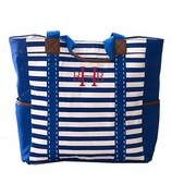 Striped Over Shoulder Beach Tote | Monogram