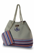 Striped Summer Tote Bags | Monogram