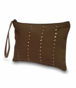 Stylish Canvas Wristlet Accessory Bag