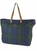 Tartan Plaid Carry All Tote Bag | Monogram