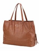 Vegan Leather Tote Bag | Monogram