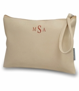 Vegan Wrist Accessory Bag | Monogram