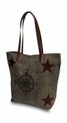 Vintage Compass Tote Bag