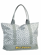 West Virginia Ikat Tote Bag | Personalized | Monogrammed