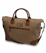 Woman's Herringbone Duffle Bag | Monogram