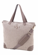 Women's Herringbone Business Tote | Monogram