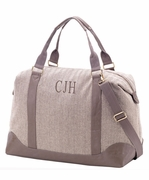 Women's Herringbone Travel Bag | Monogram
