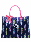 Women's Quilted Tote Bag | Monogrammed
