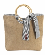 Women's Trendy Jute Tote Bags | Personalized | Monogrammed