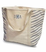 Zebra Canvas Tote Bag | Monogram