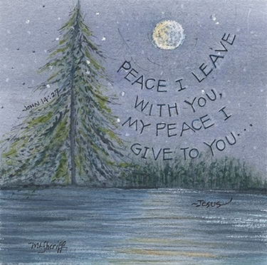 """3 x 3 Magnet """"Peace I leave with you"""""""