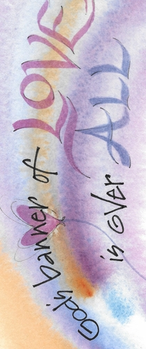 Banner of Love Bookmark