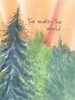 Brighter Place Greeting Card, with message