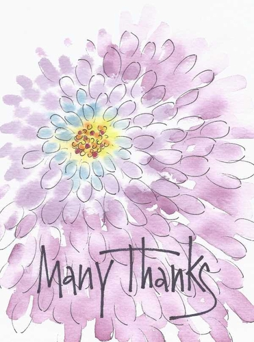 Burst of Thanks Greeting Card, blank inside