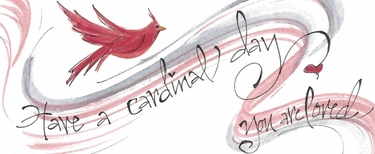 Cardinal Day Bookmark