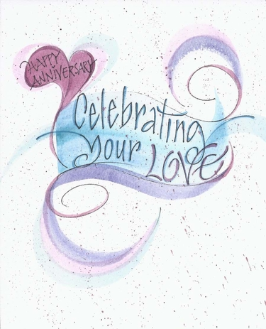 Celebrating Love Anniversary Greeting Card