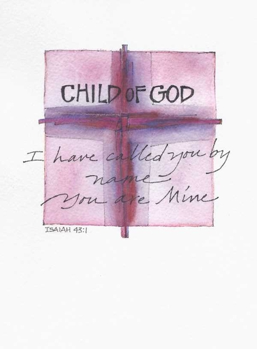 Child of God Greeting Card, with message