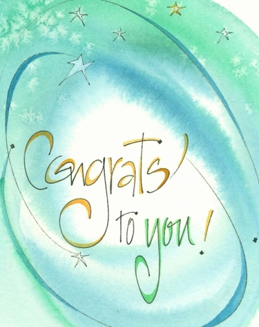 Congrats To You Greeting Card, message inside