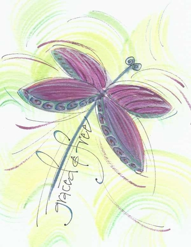 Dragonfly Greeting Card, with message