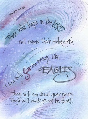 Eagles Wings Greeting Card, with message
