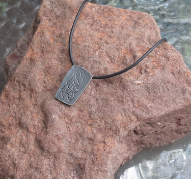 Falling Leaf Pewter Necklace
