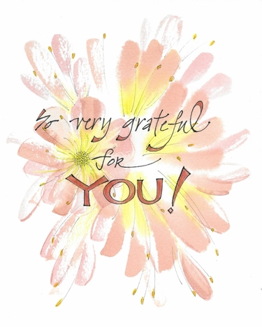 Grateful for You Greeting Card, blank inside
