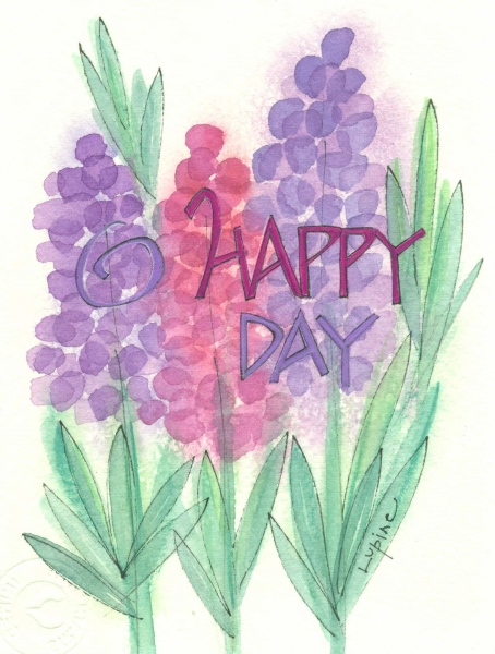 birthday happy day greeting card with message