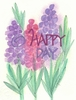 Happy Day Greeting Card, with message