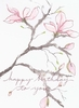 Magnolia Birthday Greeting Card